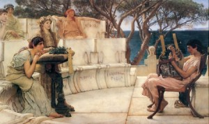 Sappho and Alcaeus- Sir Lawrence Alma-Tadema1880