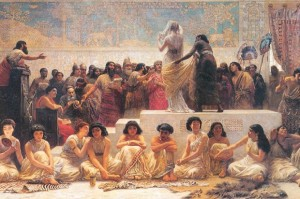 Painting-depicting-a-Babylonian-marriage-market