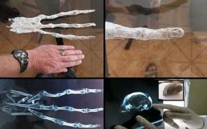alien hand and skull in peru